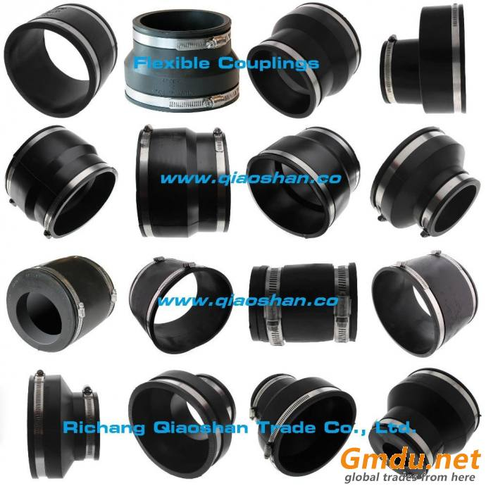Flexible Coupling 1002 Series Clay to Cast Iron or Plastic