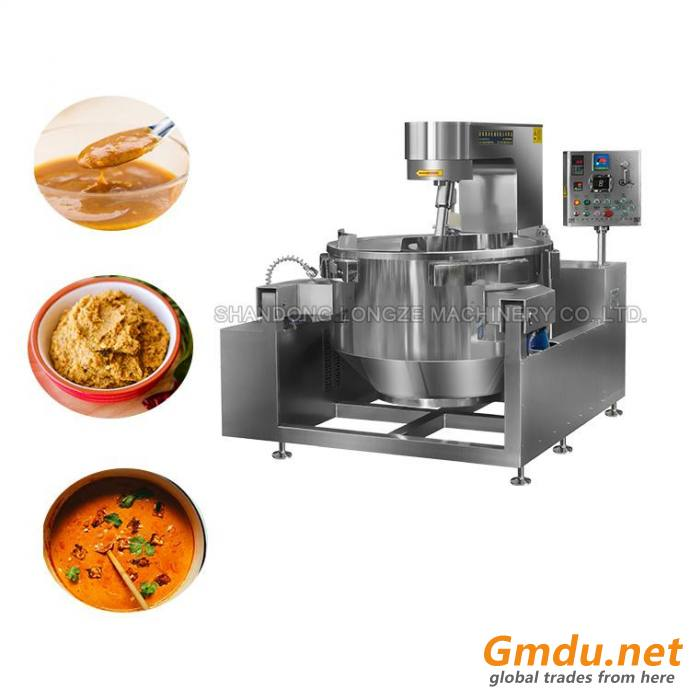 Electric Induction Heated Cayenne Pepper Sauce Cooking Mixer Machine