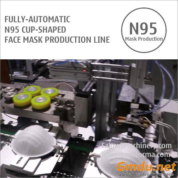 Fully-automatic N95 Cup Respirator Mask Making Machine Production Line