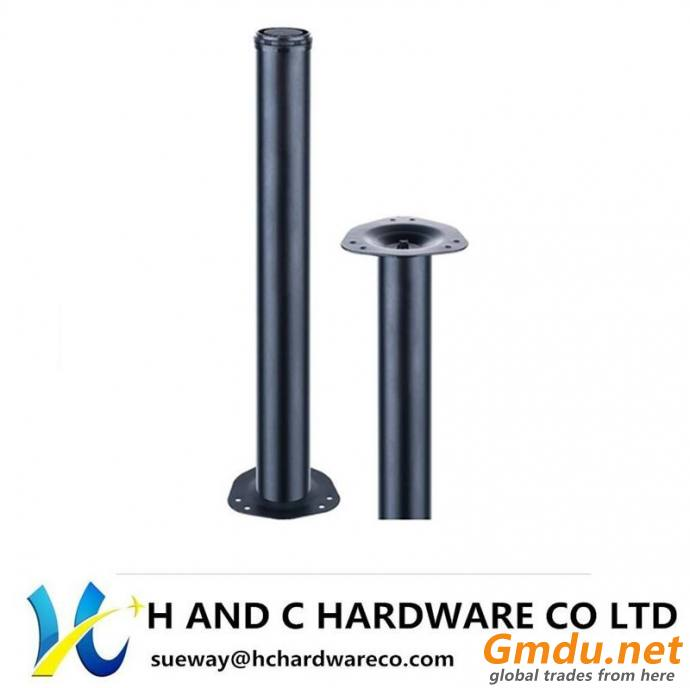 Table Leg with Metal Top Plate