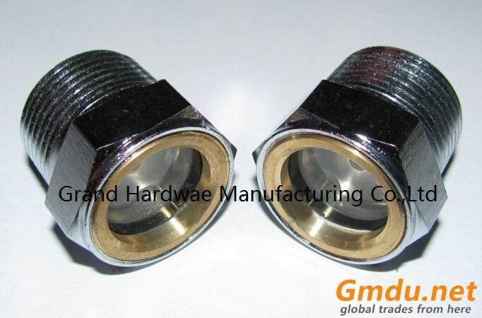 Carbon Steel Oil level Sight glass Zinc plated for pump