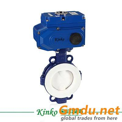 rotary electric actuator butterfly valve