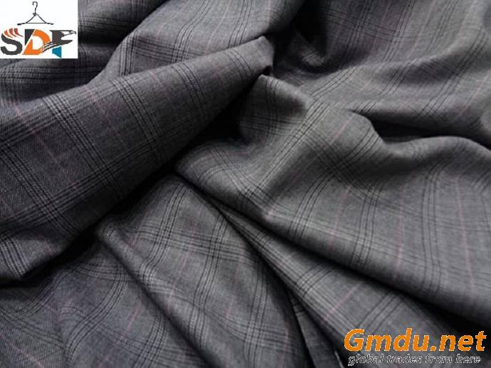 Polyester Viscose Spandex Suiting Fabric