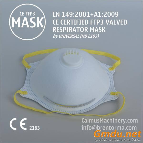 CE Certified FFP3 Cup Respirator Mask with Valve at GOOD Price