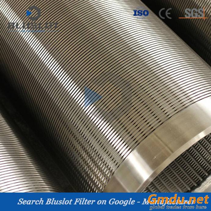 S304L Wedge Wire Continuous Slot Water Well Screens for Water Well Drilling