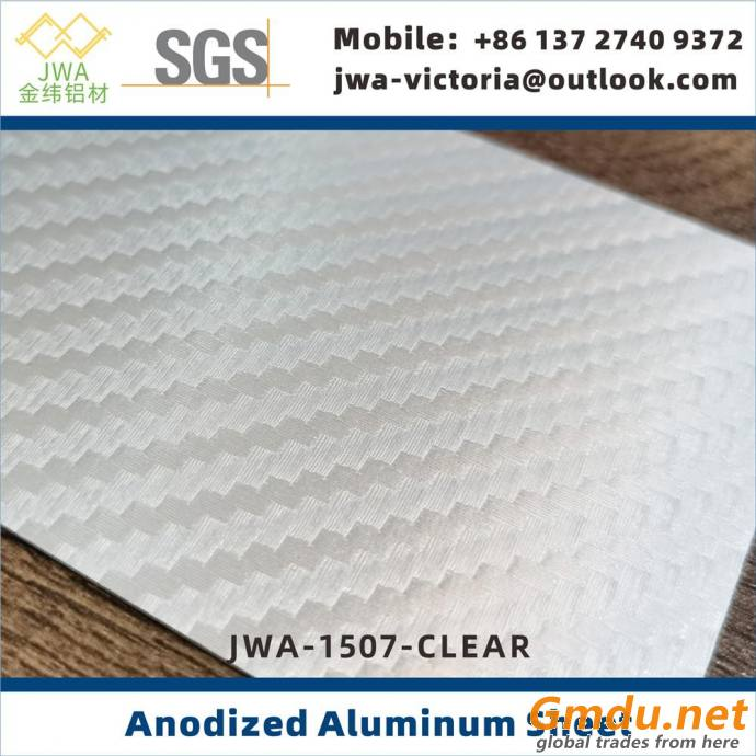Multiple Color Choices Anodized Aluminum Sheet for Interior Decoration, Metal Building Materials