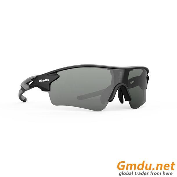 Intelligent adjustable color changing sports sunglasses