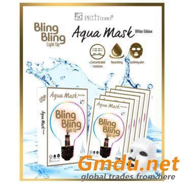Bling Bling Light Up Pore-care Aqua mask White Edition