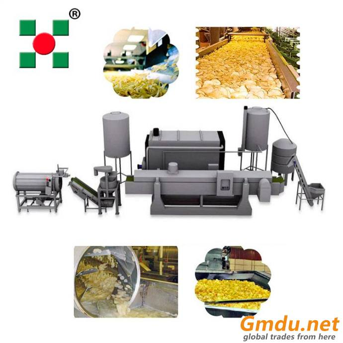 full automatic frozen french fries machinery potato chips line industry equipment