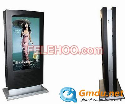 55inch dual screen multi touch screen information kiosk totem