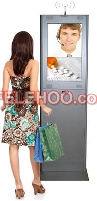 17 19 Inch Advertising Kiosk with Coupon Printer