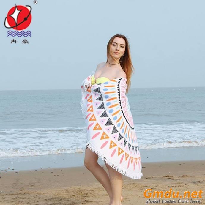 Printed Round Beach Towel