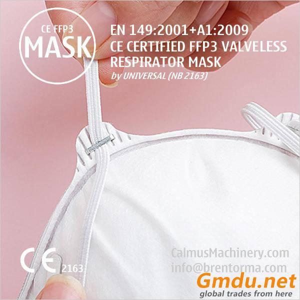FFP3 Cup-Shaped Valveless Respirator Mask With Adjustable Straps