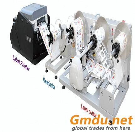 Rotary label die cutter
