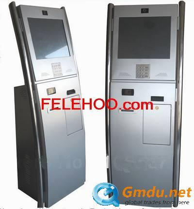 Self-service payment ticketing kiosk with thermal printer,barcod