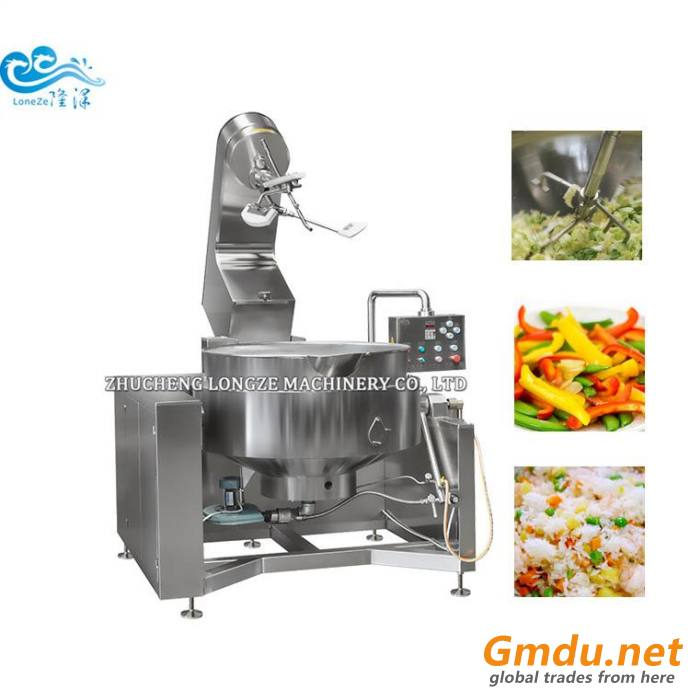 Gas Heated Vegetables Cooking Mixers Machine