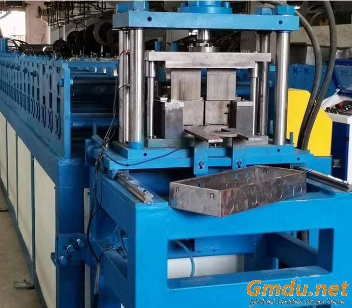 Roll forming machine for electric switch box