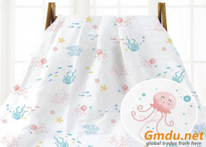 Blanket Double Layers Muslin Gauze Fabric