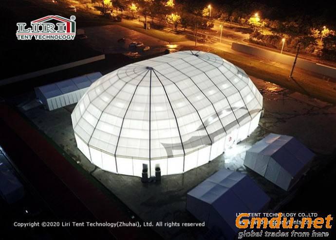 Polygon Sports tent