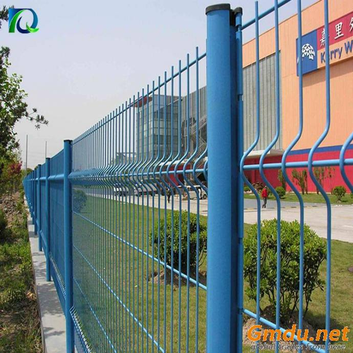 Dark Green 3D Curved Security Welded Wire Fence