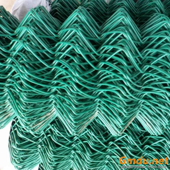 Galvanized and PVC Coated Rhombus Chain Link Fence