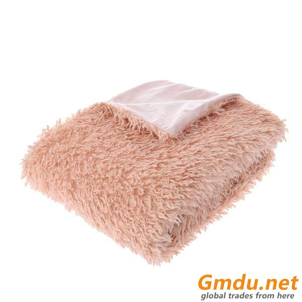 Recycled Mongolian Faux Fur Throw