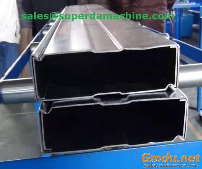 Box beam roll forming machine for rack system