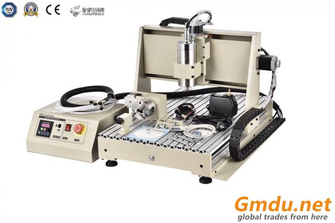 6040 4 Axis CNC Engraving Machine Woodworking Caving Router for Wood Plastic Er20 2200W
