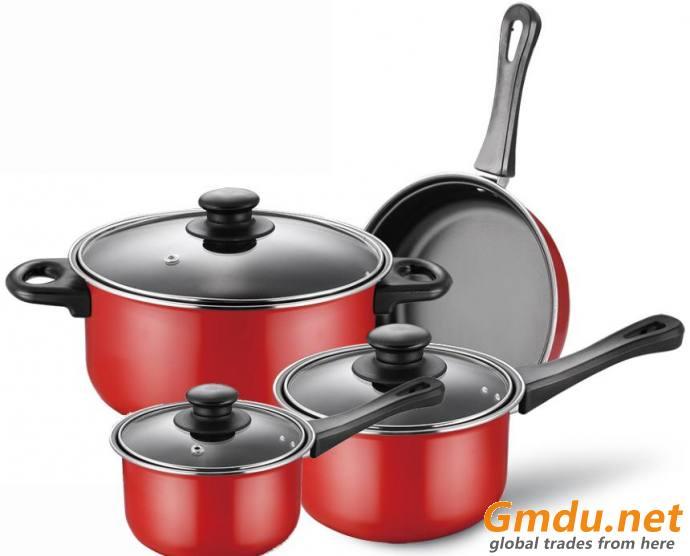 carbon steel cooking pot 10 pcs set