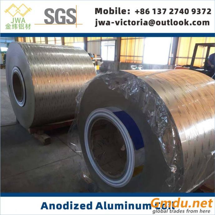 Anodized Aluminum Coil 5052, Metalic Look Anodized Aluminum Sheet, Continuous Anodizing Process
