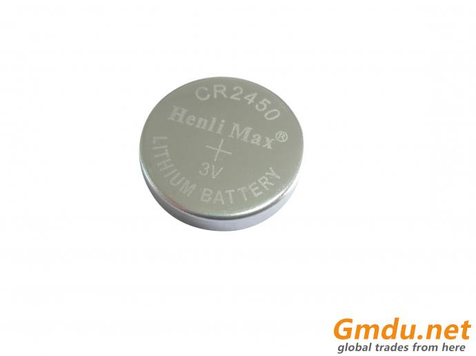 CR2450 Henli Max Lithium Button Cell