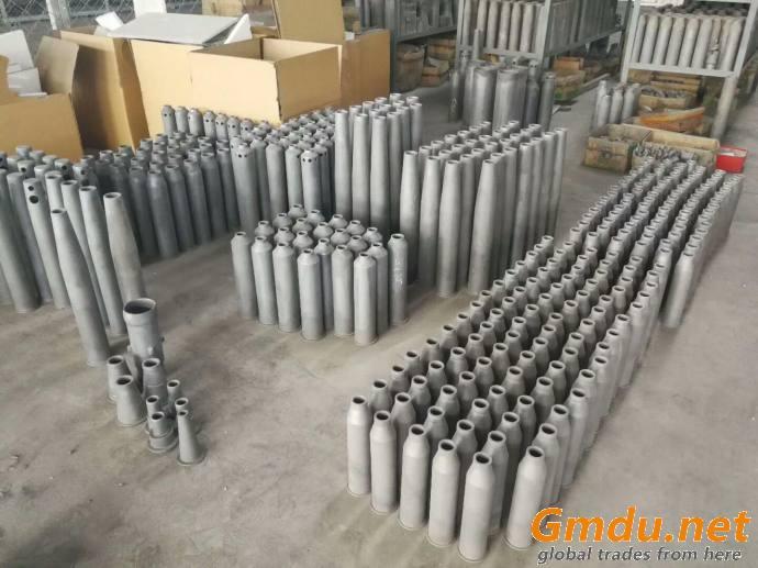 SiC silicon carbide Burner Nozzles, RSiC flame tube, RSiC burner Tube, SiC burner sleeve for shuttle tunnel kiln