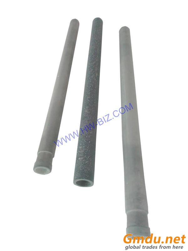 NSiC tubes Sheaths for thermocouples, Thermocouple protection tube, silicon nitride ceramic tubes, SiC tube, Si3N4 ceramic tube sheath, silicon carbide sheaths tubes