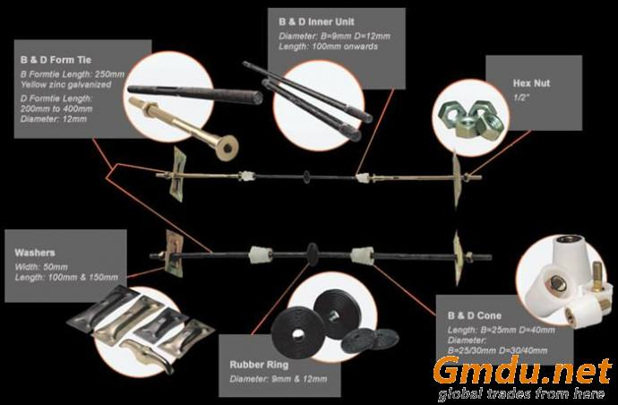 flat rib washer used with d cone,d form tie,d inner unit in forming tie system