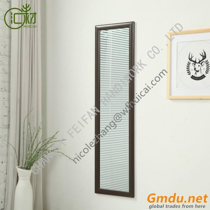 WOOD WALL MOUNTED / HANGING RECTANGLE MIRROR