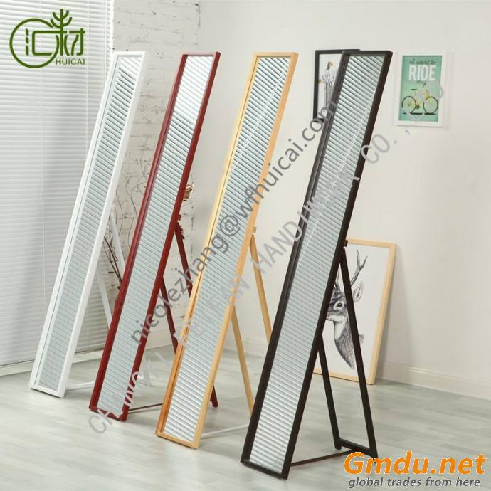 various color decorative standing floor full length mirror leaner mirror with leg
