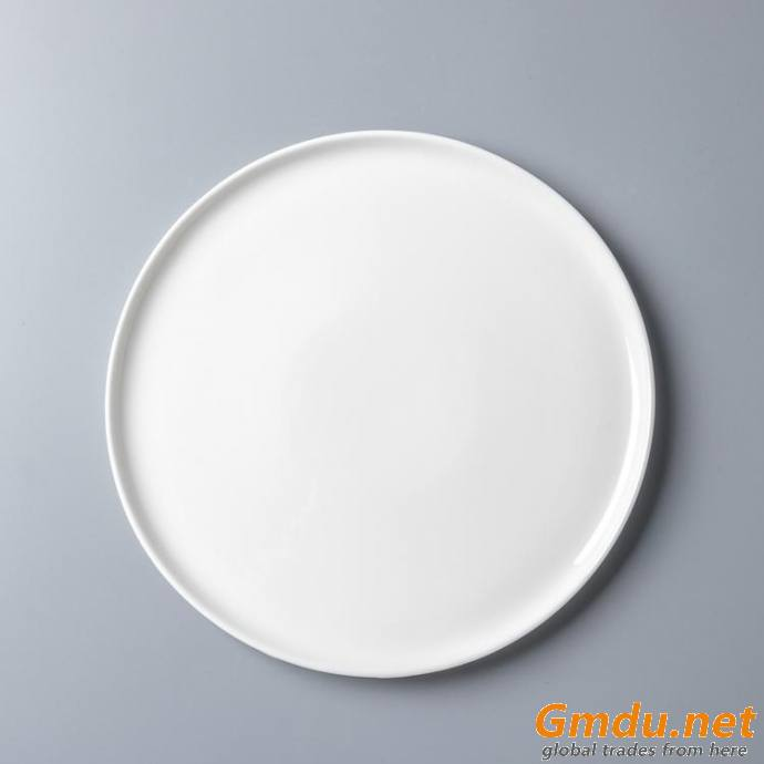 10-14 inch Round Ceramic Plate Round Dinner Steak Plates Restaurant Dinnerware Turkish Tableware with Good Price