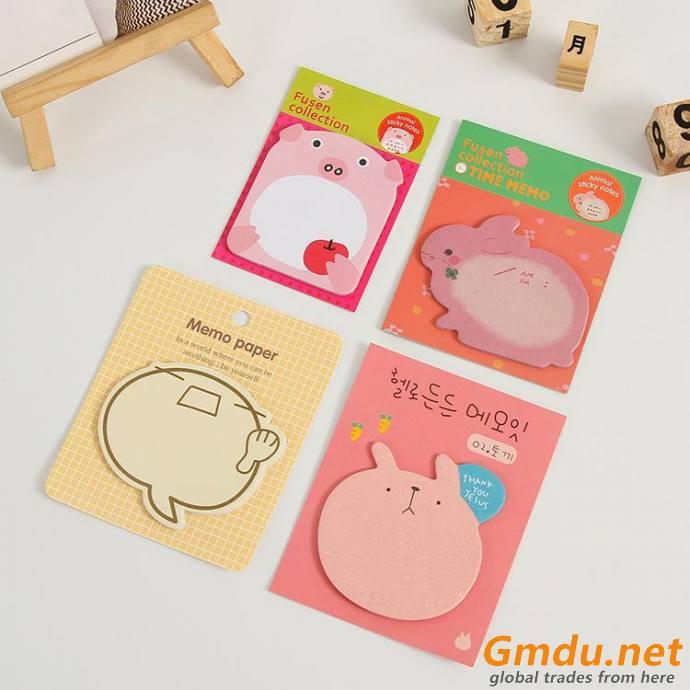 Sticky Notes Memo Pad Sticker-Animals Shape