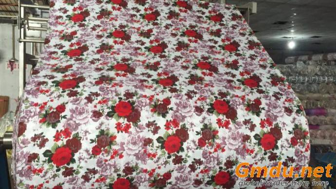 100% Polyester 3D Disperse Printing Flat Design Printed Microfiber Bed Fabric
