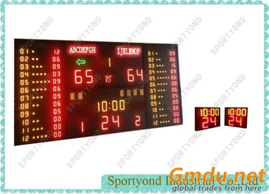 Basketball Gym Digital LED Scoreboard and Shot Timer