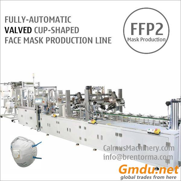 Fully-automatic Valved Cup Mask Machine Respirator Production Line