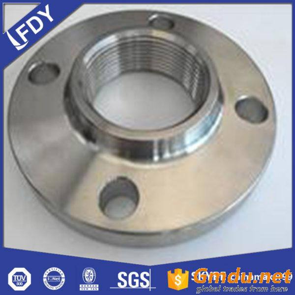 Hubbed threaded flange