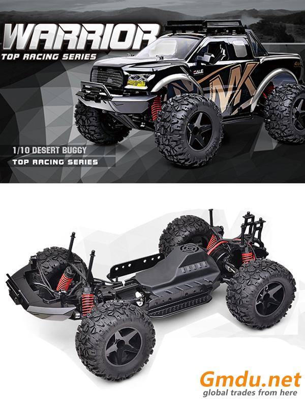 1:10 scale 4WD big wheel RC rock crawler with batteries