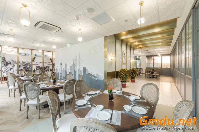 High-Density Calcium Silicate Board used in Restaurant of Microsoft Shanghai