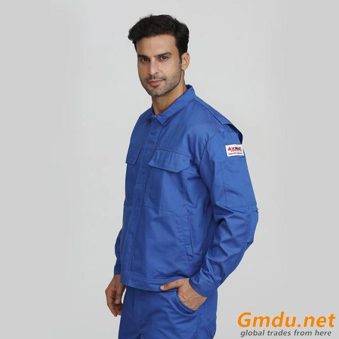Blue men's industrial fire resistant security protective jackets