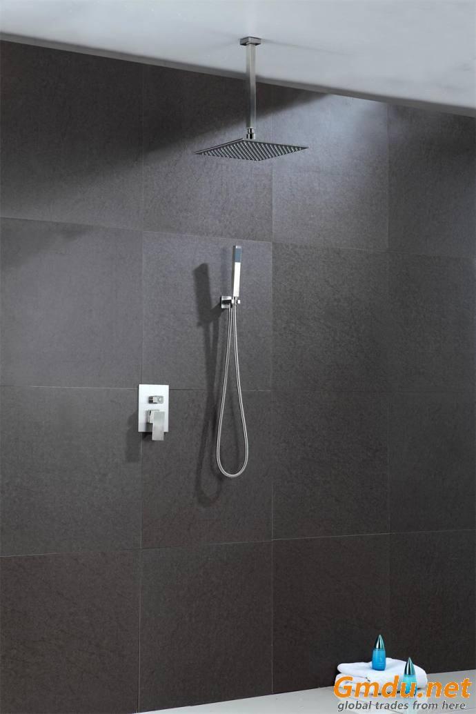 led shower head rainfall with hand shwoer