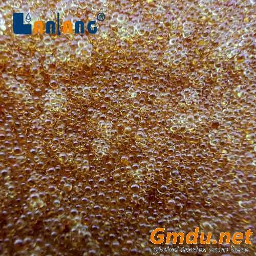 Ion exchange resin for biodiesel purification