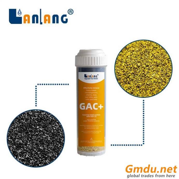 GAC/KDF water filter cartridge