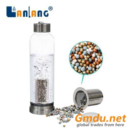 Glass Alkaline Mineral Water Bottle