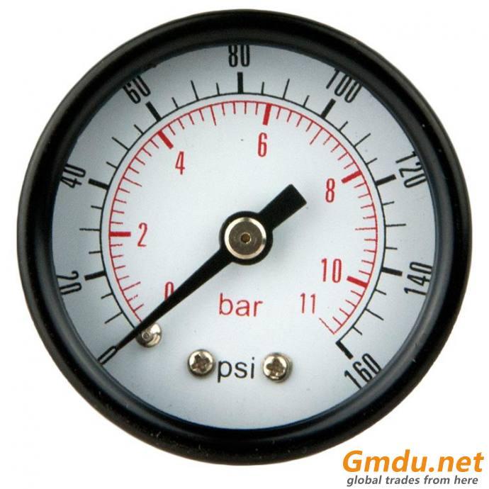 """Test Pressure Gauge, 1/8"""" MNPT, Gauge Connection Location: Center Back"""
